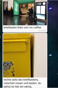 Schnitzeljagd Postmarken